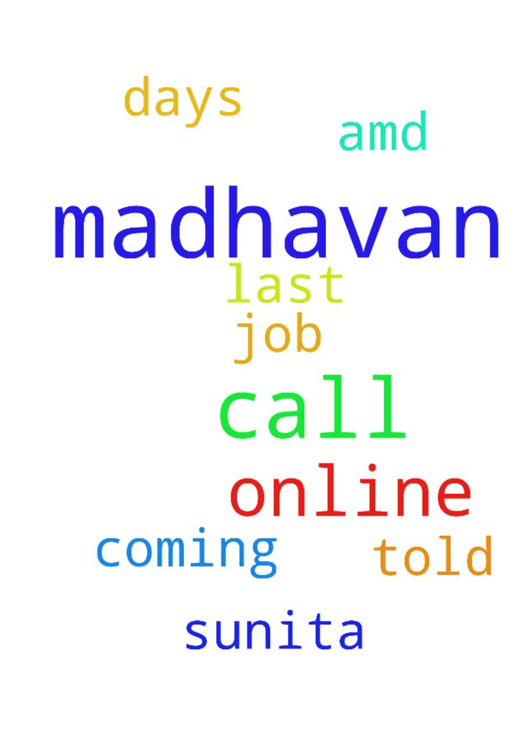Please pray for madhavan he com on - Please pray for madhavan he com on online he will call me my name is sunita madhavan told me he will job to me last 10 days he not call me amd not coming online please pray for madhavan he should call me please thank u Posted at: https://prayerrequest.com/t/E5T #pray #prayer #request #prayerrequest