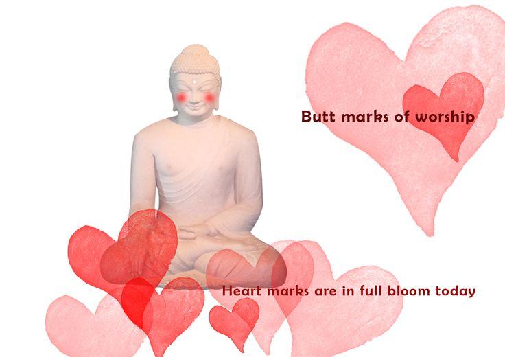 하트 엉덩이   복사 http://buddha-on.net/220260942104   기도하는 모습은 어디에서도 아름답다. 하트를 닮은 뒷모습조차... 오늘도 우리 부처님, 얼굴이 발그레지신다.
