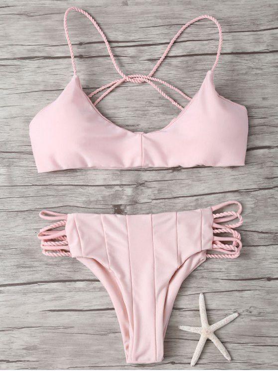 Strappy Criss Cross Bikini Bathing Suit