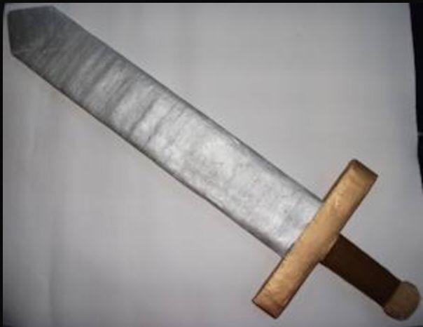 Cardboard Roman sword