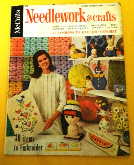 McCalls Needlework and Crafts magazine, Spring/Summer 1966 issue. Wonderful things to make. Measures approximately 10 X 13. It has 184 pages featuring 30