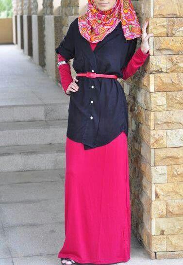 #hijab tunic over skirt