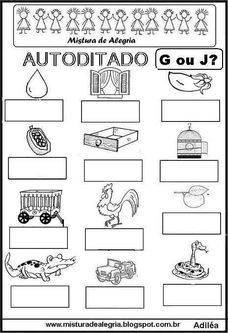 autoditado-G-OU-J-alfabetizacao-imprimir-colorir.JPG (464×677)