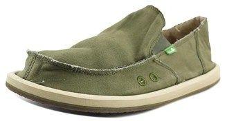 Sanuk Vagabond Men Round Toe Canvas Green Loafer.