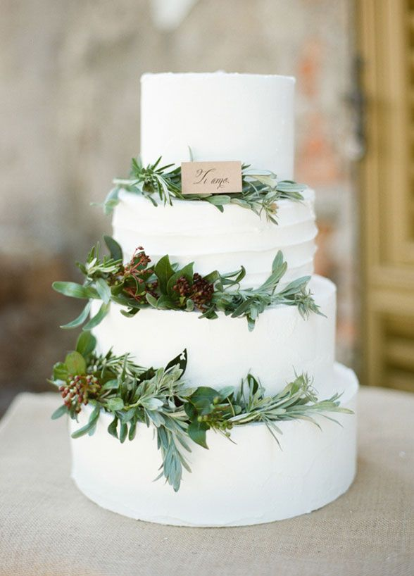 Wedding Cake Olive Leaves Are A Fresh And Stylish Addition To Your Classic White