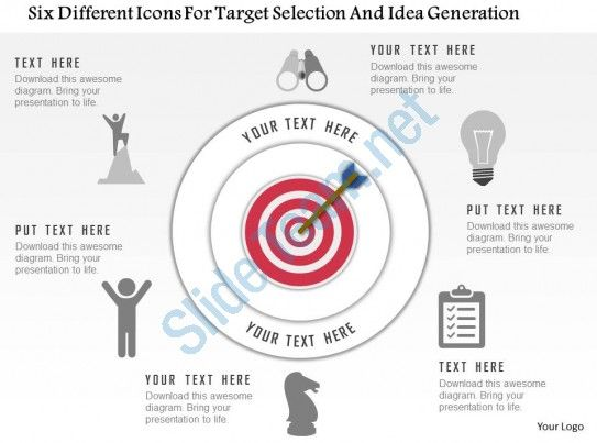 The 70 best ppt images on pinterest power point templates slideteam provides predesigned 0115 six different icons for target selection and idea generation powerpoint template ppt templates ppt slide designs toneelgroepblik Choice Image