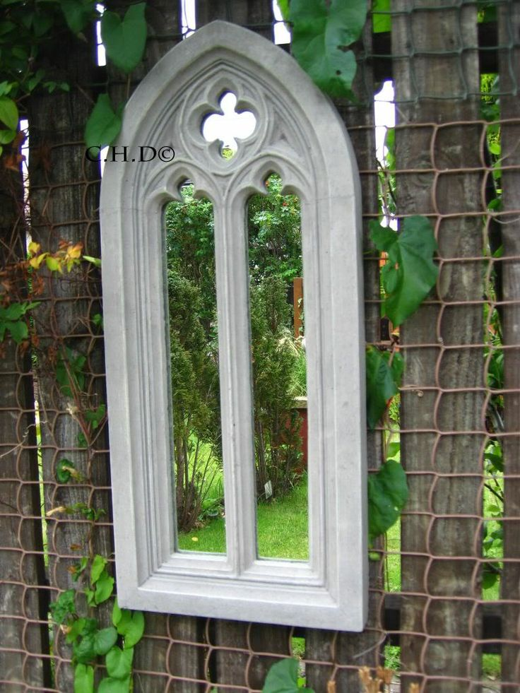 Example church mirror in silver/grey tones
