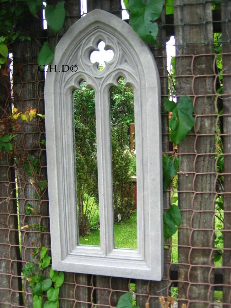 Example church mirror in silver/grey tones