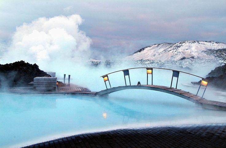 Bathing in the Blue Lagoon, Reykjavik, Iceland