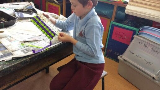 Weaving with grade one.