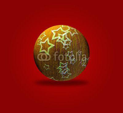 Sfondo rosso con palla di Natale gialla con stelle #microstock #marketing #webdesign #design #WebContent #SEO #csstemplates #css #HTML5 #Websites #web20k #web2014 #web