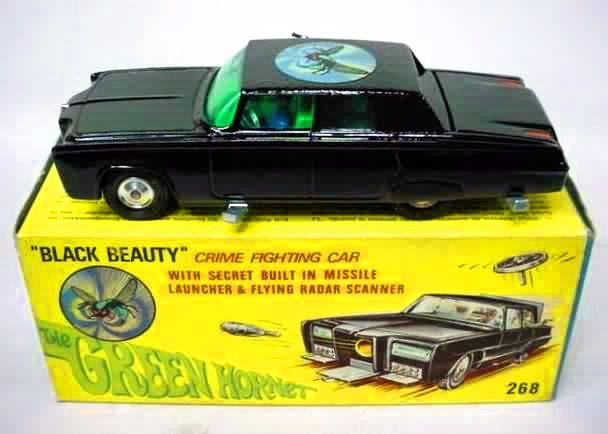 """Vintage Corgi Green Hornet's """"Black Beauty"""" crime fighting car"""