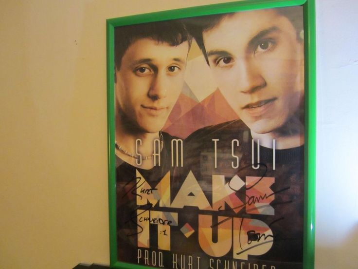 Kurt Schneider and Sam Tsui autographed color poster, 24x18, Make It Up unframed