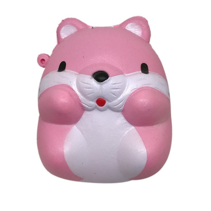 8cm Kawaii squishy POM Hamster I-BLOOM soft JAPAN Scented squeeze squishy slow rising Cell Phone Strap Cartoon animal cute toys