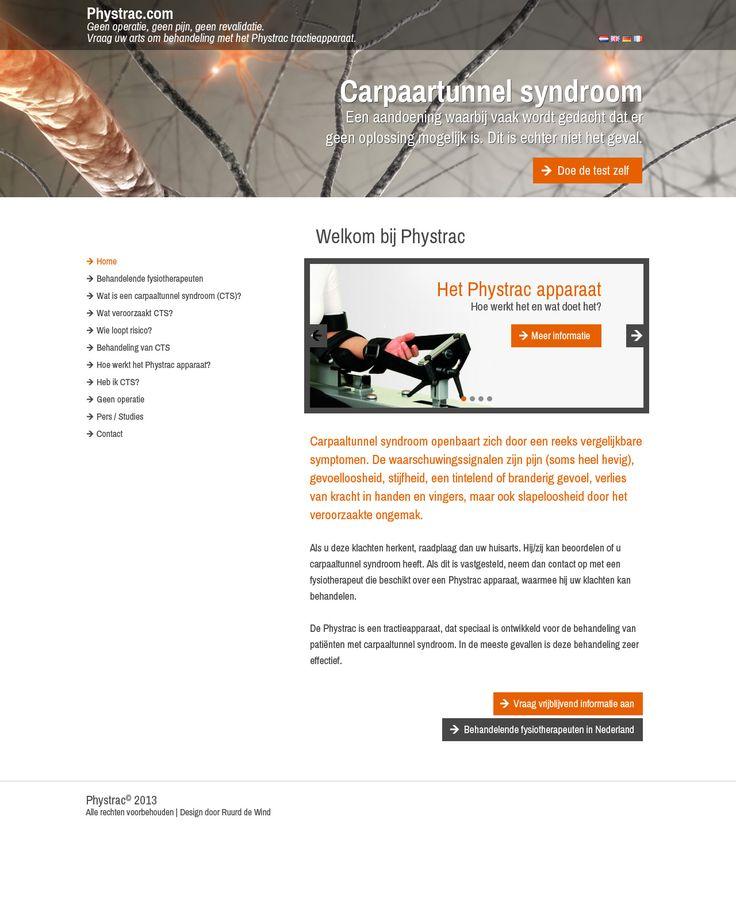 Ontwerp voor website voor medisch apparaat.