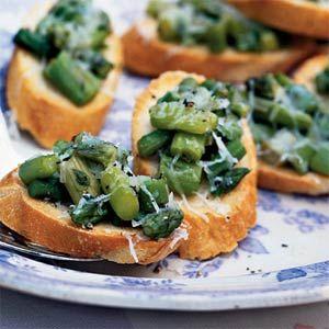 Truffled Asparagus Crostini: Truffled Asparagus, Asparagus Recipes, Crostini Recipe, Food, Truffle Oil, Appetizers