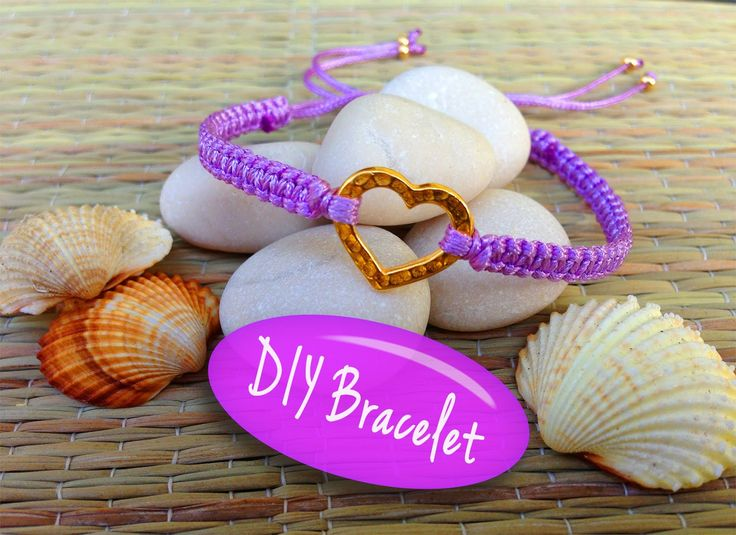 DIY Bracelet! Bracelet Making Tutorial with String and a Heart Charm