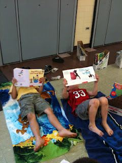 "Read at the Beach for March is Reading Month! School wide ""read in"" with a fun theme"