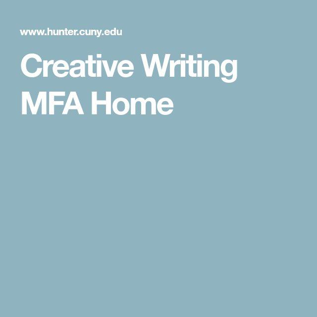 Creative Writing MFA Home