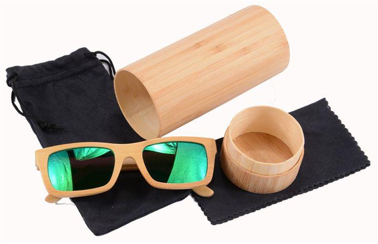 Aliexpress.com: Comprar Bambú Sunglasse verde gafas de sol ...