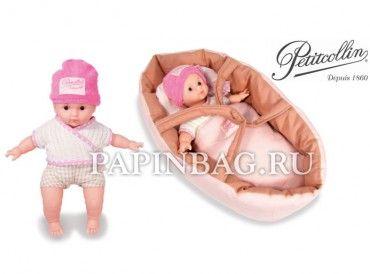 """PETITCOLLIN Кукла игровая виниловая """"Leo"""", 25 см,коллекция Organic baby Ecolo, с колыбелькой-переноской - http://www.papinbag.ru/?m=5372"""