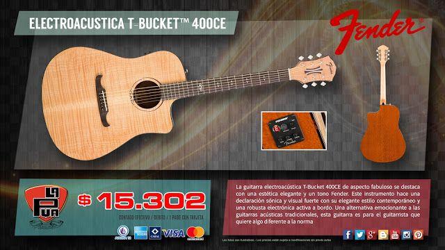 """La Púa San Miguel: GUITARRA ELECTROACUSTICA """"FENDER"""" T-BUCKET™ 400CE"""