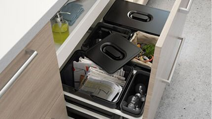 Abfallsystem für deine Schubladen