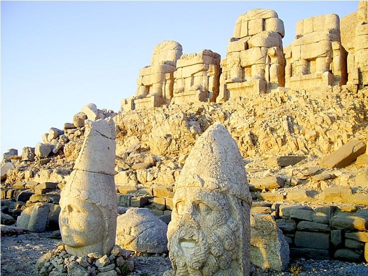 The statues of Gods & Goddesses on top of the mountain Nemrut, Western Armenia