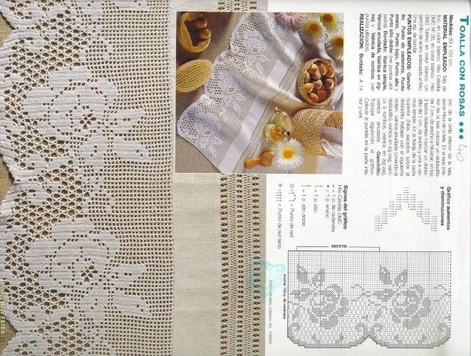 crochet - filet edgings - barrados / bicos filet - Raissa Tavares - Λευκώματα Iστού Picasa