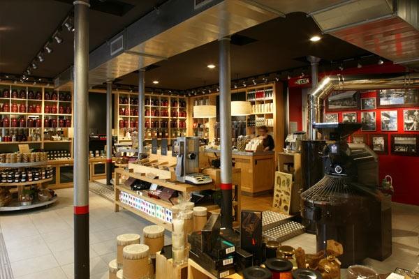 Comptoirs Richard coffee and tea shop Rue du Cherche-Midi Paris by Agence Versions