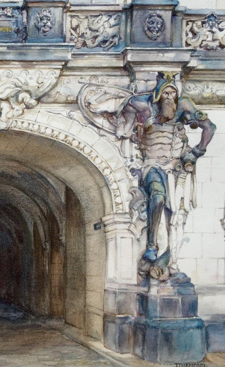 Guardian Dresden watercolour by Jenny Diamond designs