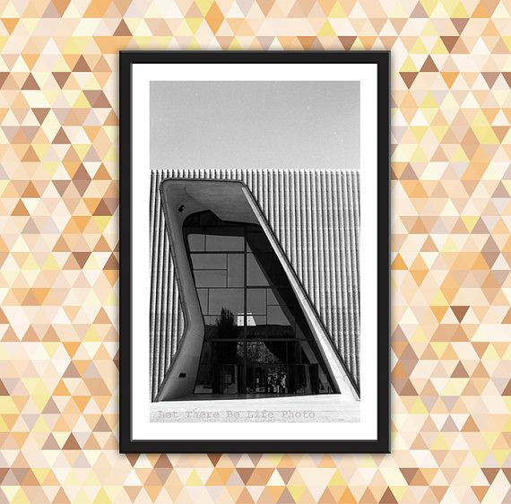 Modern Architectural Photograph Urban Wall Art by Lettherebelife