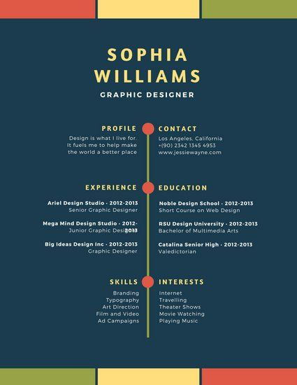 70 best Resume images on Pinterest Infographic resume, Resume - colorful resume template free download