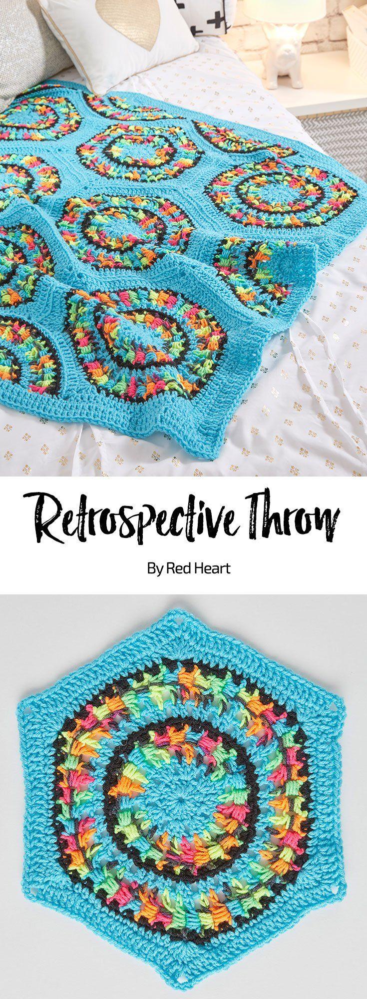 Twirling Crochet Throw free crochet pattern in Super Saver Jumbo yarn.