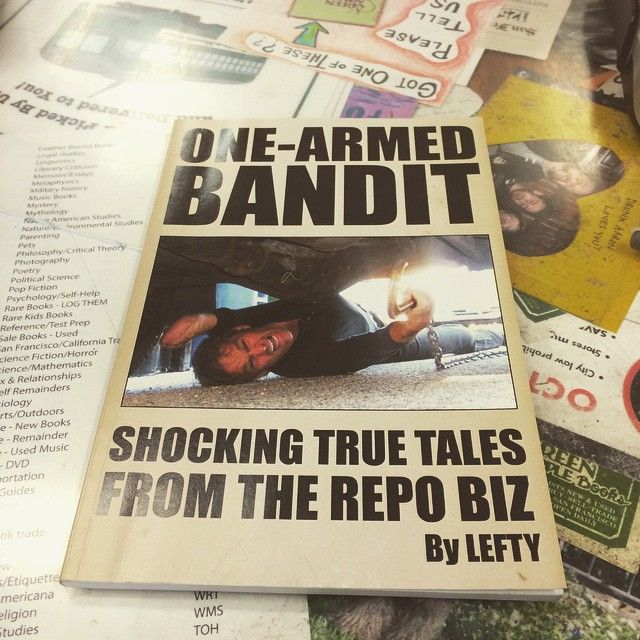 lefty!!! book of the day here at our buy counter.  #greenapplebooks #repoman #lefty #usedbooks