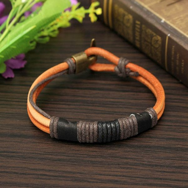 Tribal Braided Bracelet, Leather Rope Bracelet
