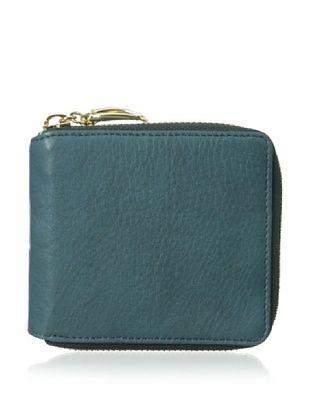 54% OFF Tusk Women's Donington Napa Zip French Wallet,Teal
