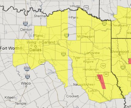 Winter Weather Advisory issued for D/FW Metroplex into East Texas - http://www.texasstormchasers.com/2013/01/15/winter-weather-advisory-issued-for-dfw-metroplex-into-east-texas/