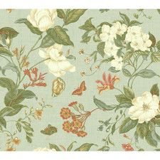 """Williamsburg Garden Images 27' x 27"""" Floral and Botanical Wallpaper"""