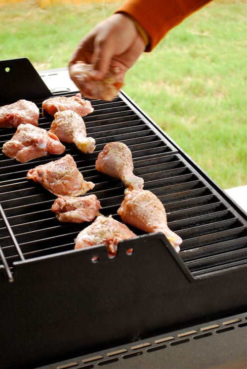A good how-to on grilling chicken thighs and drumsticks.