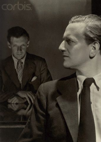 The composer, Benjamin Britten (left), with his life-long companion, the tenor, Peter Pears (right), photographed by Cecil Beaton. The first of Britten's ten operas, 'Peter Grimes, was written for Pears