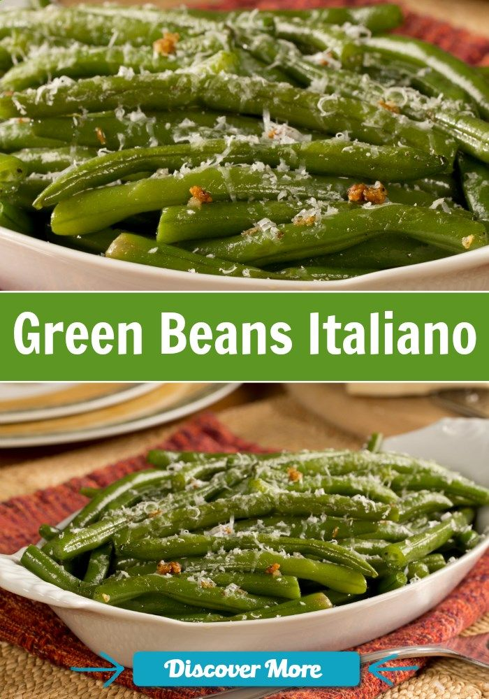 Green Beans Italiano is the perfect side dish this fall!