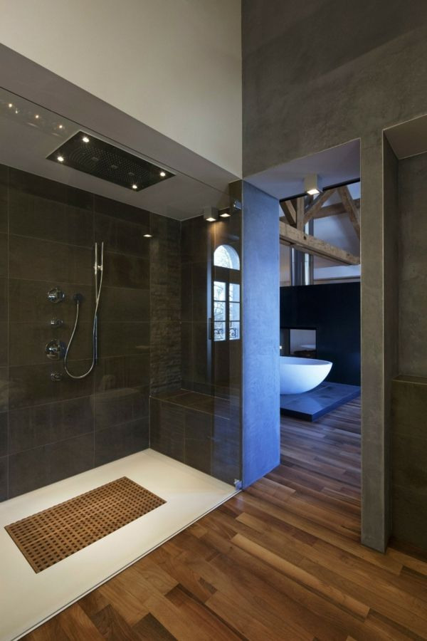 8 best images about salle de bain on Pinterest More photos, Shower - Stratifie Mural Salle De Bain