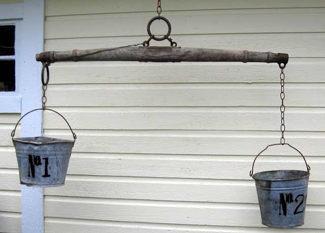 this has rusty metal and numbers...swoon...from my art friend @Shelley Holm: Metals Madness, Galvanized Buckets, Art Friends, Outdoor, Gardens, Rusty Metals, Friends Shelley