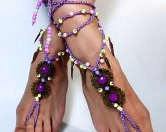 barefoot sandals,barefoot sandles, yoga sandals, festival shoes hippie, crochet barefoot sandals,barefoot jewelry, wedding barefoot beach