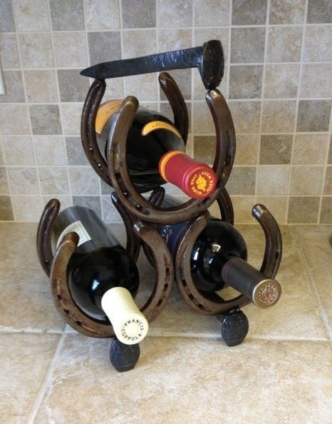 9 best images about horseshoes on pinterest bottle for Things made from horseshoes