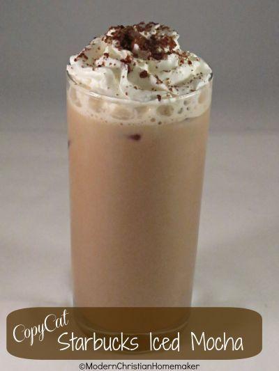 Copycat Starbucks Iced Mocha