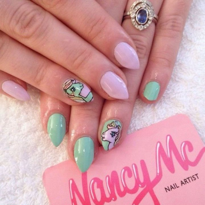 846 best nail art designs images on pinterest music nail art 19 cartoon nails inspired by saturday morning cartoons you grew up with prinsesfo Image collections
