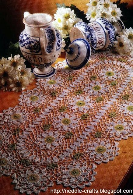 new oval crochet doily pattern