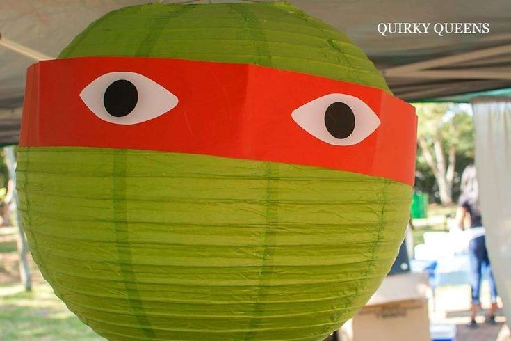 Paper lanterns at a Teenage Mutant Ninja Turtles birthday party! See more party ideas at CatchMyParty.com!